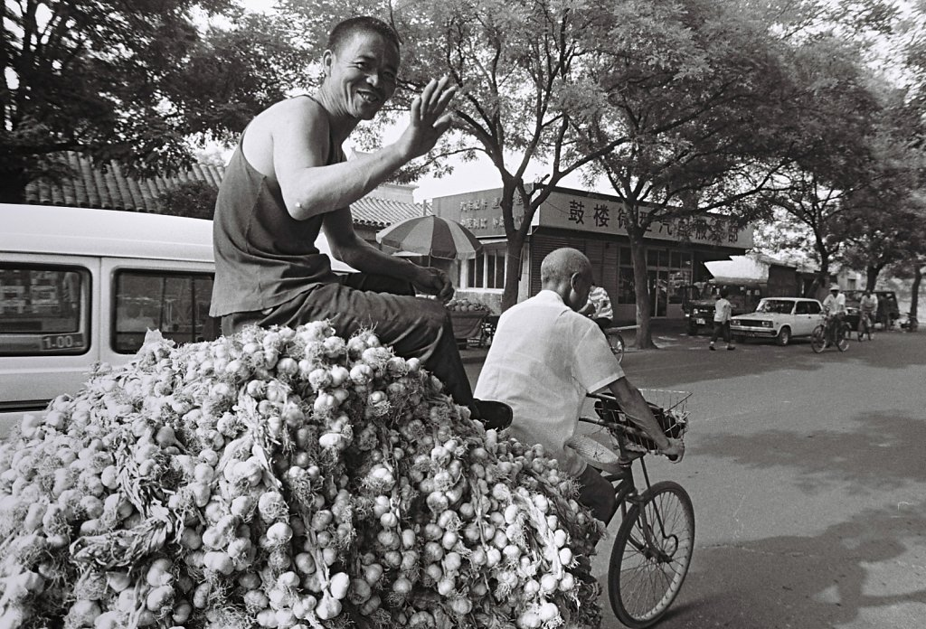 Strassenszene in Peking, China (Portrait, Reportage, on location, redaktionell)